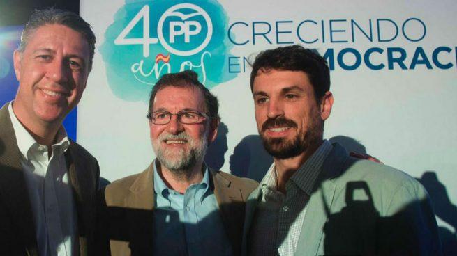 El alcalde de Gimenells con Rajoy y García Albiol en Cataluña