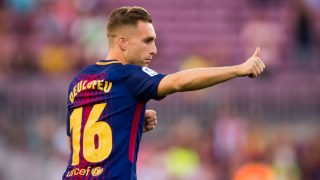Deulofeu, en un partido con el Barcelona. (Getty)