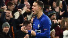 Hazard celebra un gol con el Chelsea. (AFP)
