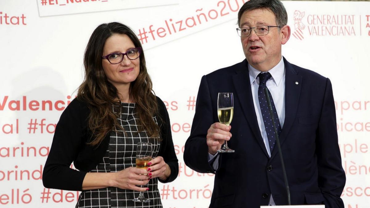 El presidente de la Generalitat, Ximo Puig, y la vicepresidenta, Mónica Oltra. (Foto: GV)
