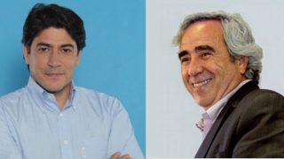 El alcalde actual David Pérez (PP) y el anterior, el actual Enrique Cascallana (PSOE). (Fotos: TW)