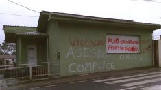 La casa de 'El Chicle', asesino confeso de Diana Quer, y de su mujer en Rianxo (La Coruña), amanecen con pintadas.