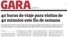 Portada del diario proetarra 'Gara' en su edición en papel