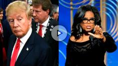 El presidente de EEUU, Donald Trump, y la estrella de la TV Oprah Winfrey.