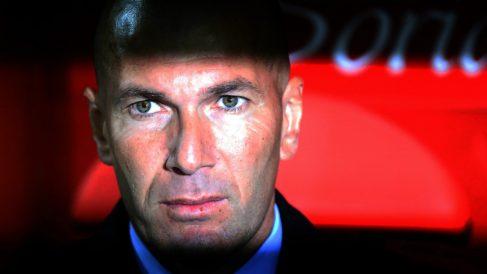 Zidane, en el partido ante el Celta. (AFP)