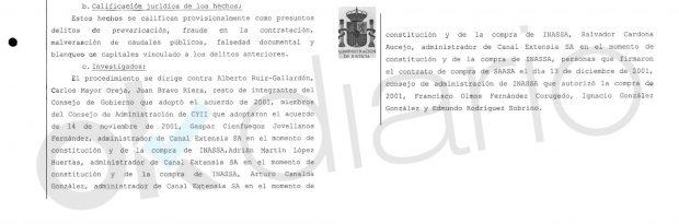 Auto del Juzgado Central de Instrucción nº 6 de la Audiencia Nacional.
