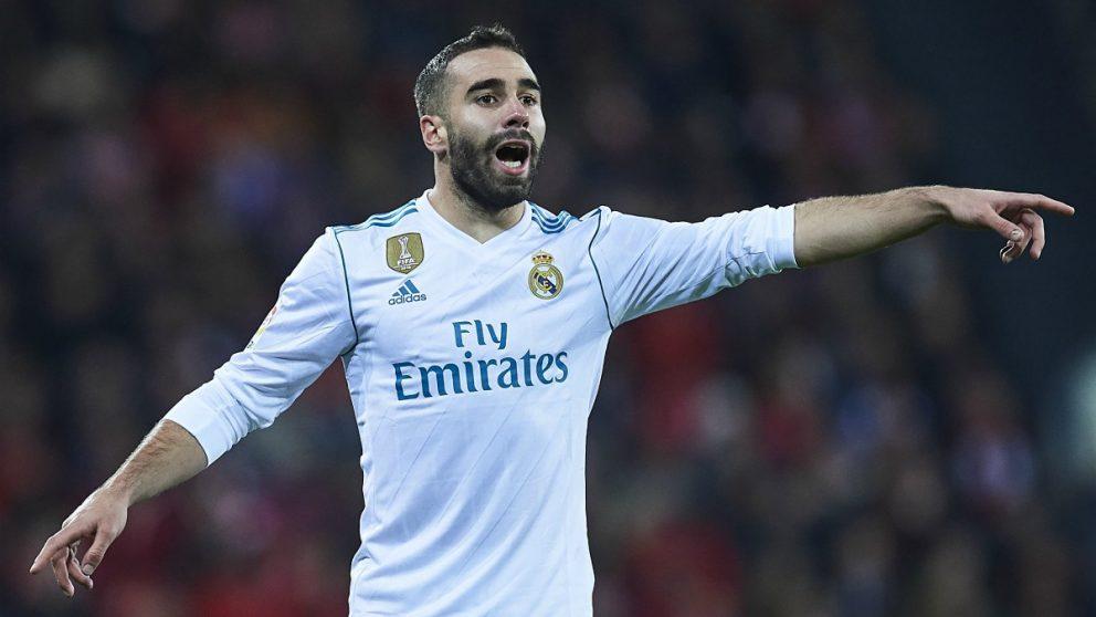 Carvajal, en un partido con el Real Madrid. (Getty)