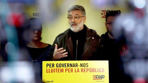 El diputado de la CUP Carles Riera. (Foto: EFE)