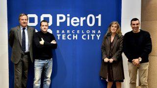 Miguel Vicente, presidente de Barcelona Tech City; Jorge Villavecchia, director general de Damm; María Carceller, Consejera de Damm; y Miquel Martí, CEO de Barcelona Tech City.