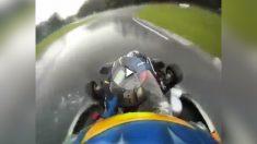 Fernando Alonso dio una exhibición de conducción bajo la lluvia.