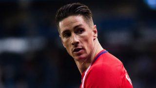 Fernando Torres, en un partido con el Atlético. (AFP)