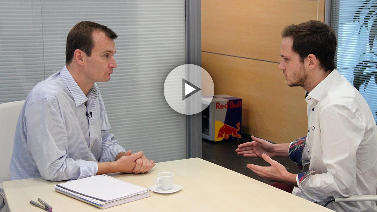 Meinrad Spengler, CEO de MásMóvil. (Foto y vídeo: Enrique Falcón)