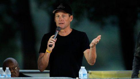 Lance Armstrong, en un evento de Livestrong. (Getty)