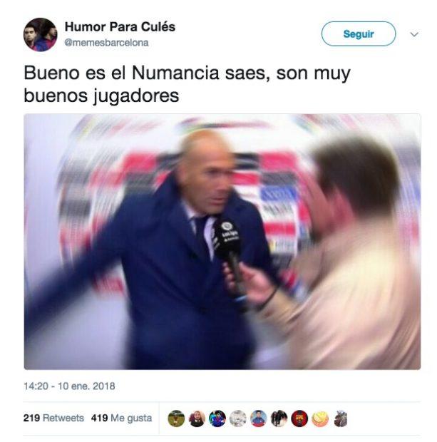 Zidane y Benzema protagonizan los mejores memes del Real Madrid vs Numancia