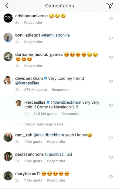 "Casillas invita a Beckham a visitar su pueblo: ""Very very cold, ¡come to Navalacruz!"""