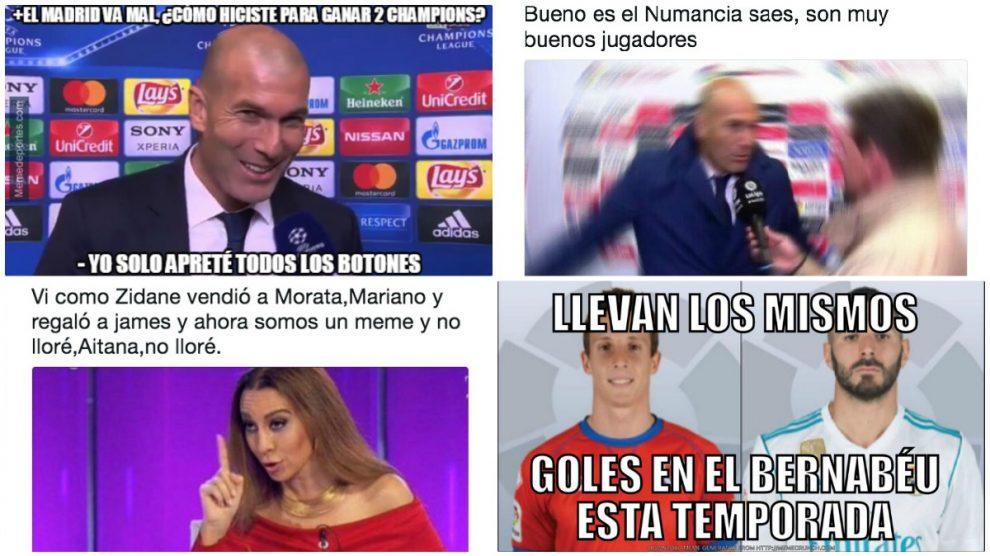 Zidane fue el foco principal de los memes en las redes sociales.