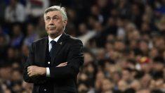 Carlo Ancelotti durante un partido del Real Madrid. (AFP)