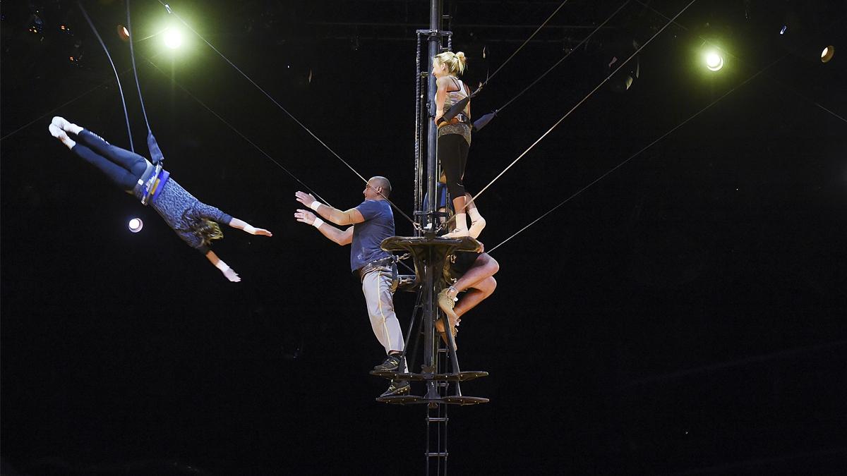 El Cirque Du Soleil en uno de sus ensayos. (Foto: AFP)