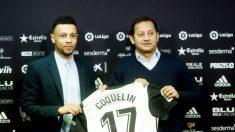 Coquelin, en su presentación como jugador del Valencia. (EFE)