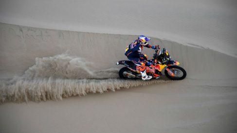 Imágenes de la sexta etapa del Dakar. (AFP)