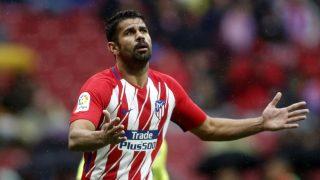 Diego Costa durante el Atlético-Getafe. (AFP)