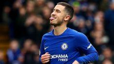 Hazard durante un partido con  el Chelsea. (Getty)