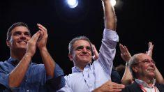 José Manuel Franco junto a Pedro Sánchez. (Foto: PSOE-M)