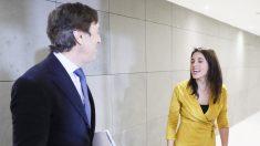 Rafael Hernando e Irene Montero, portavoces del PP y Podemos en el Congreso, respectivamente. (Foto: EFE)