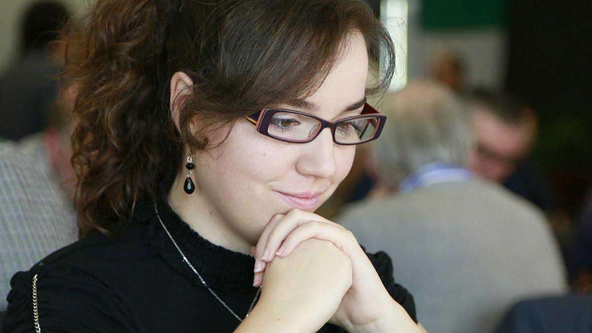 Sabrina Vega, campeona de España de ajedrez.
