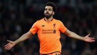Mohamed Salah celebra un gol con el Liverpool (Getty).