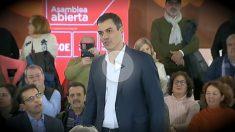 Pedro Sánchez, durante la asamblea abierta organizada en Granada.