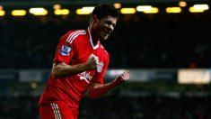 Xabi Alonso celebra un gol con el Liverpool. (Getty)