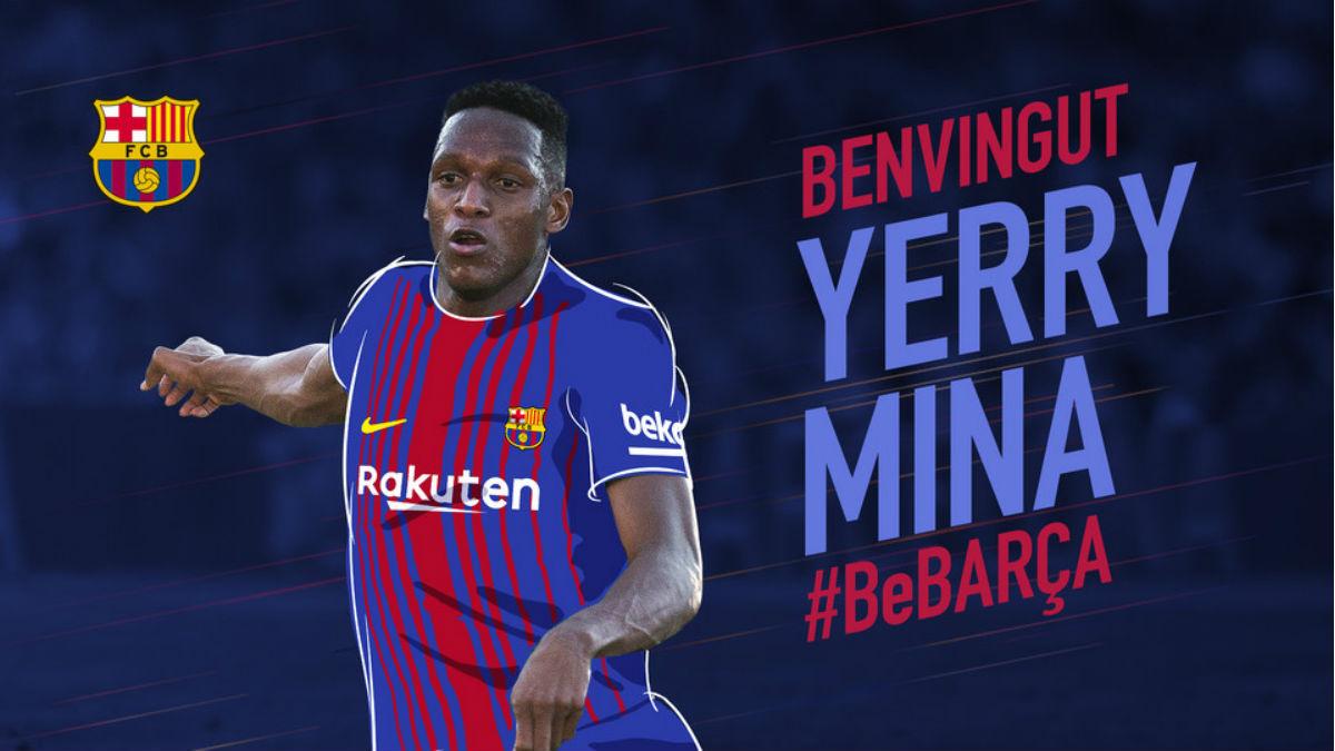 Yerry Mina ya es nuevo jugador del Barcelona. (fcbarcelona.cat)