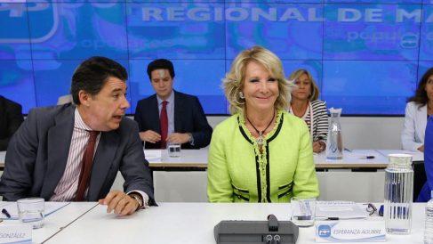 Ignacio González y Esperanza Aguirre.