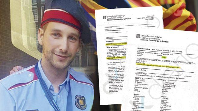 El portavoz de Mossos Por la Independencia, Albert Donaire, y la denuncia interpuesta contra él