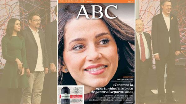 La Junta Electoral expedienta a 'ABC' por dedicar su portada a Arrimadas en la jornada de reflexión del 21-D