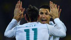Cristiano Bale celebran un gol. (AFP)