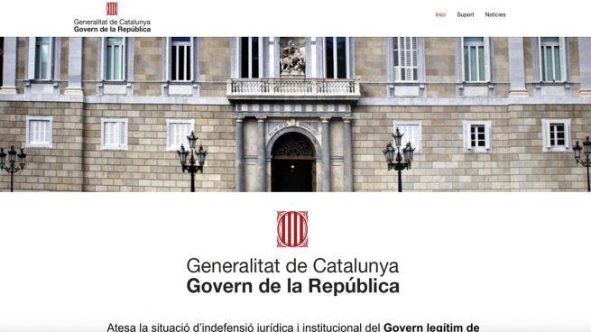 Aspecto de la web 'Govern de la República'.