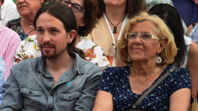 Iglesias obliga a Carmena a 'politizar' su nueva candidatura al Ayuntamiento