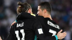Cristiano Ronaldo y Bale celebran un gol. (AFP)