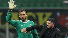 Donnarumma se despide de su afición ante el aprecio de su entrenador, Gattuso. (Getty Images)
