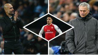 Mourinho y Guardiola van a la guerra por Alexis Sánchez. (Getty)