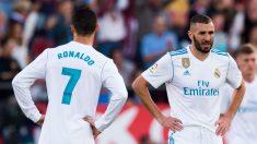 Cristiano Ronaldo y Benzema. (Getty)