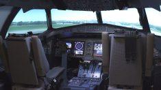 Simulador ATR 72/600  de la empresa GTA, participada por Indra.