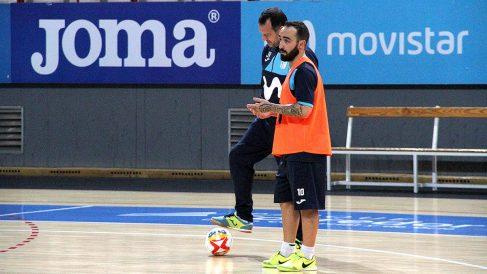 Ricardinho durante un entrenamiento con Movistar Inter. (Foto: Enrique Falcón)