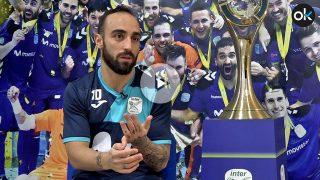 Ricardinho, jugador de fútbol sala del Inter-Movistar. (Foto y vídeo: E. Falcón)