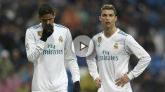 El Bernabéu despidió con pitos a los jugadores del Real Madrid. (AFP)