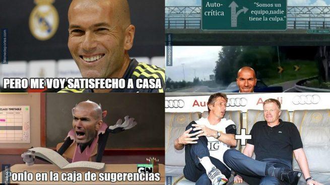 Zidane, gran protagonista de los memes de la derrota del Real Madrid ante el Villarreal