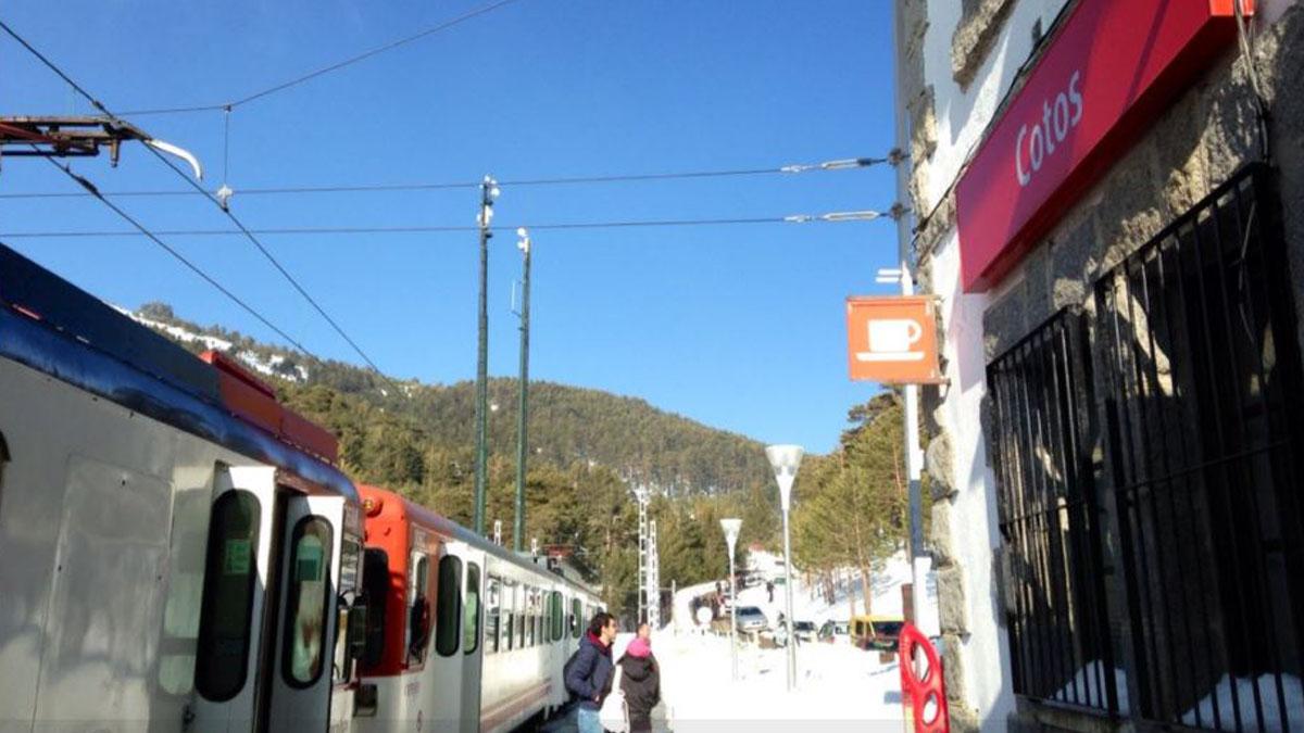 Foto de achivo de la estación ferrovial de Cotos.