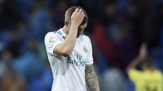 Kroos se lamenta de la derrota ante el Villarreal (AFP).